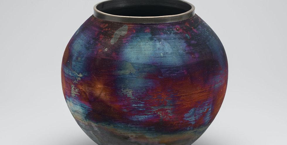 Large Moon jar, Copper wash