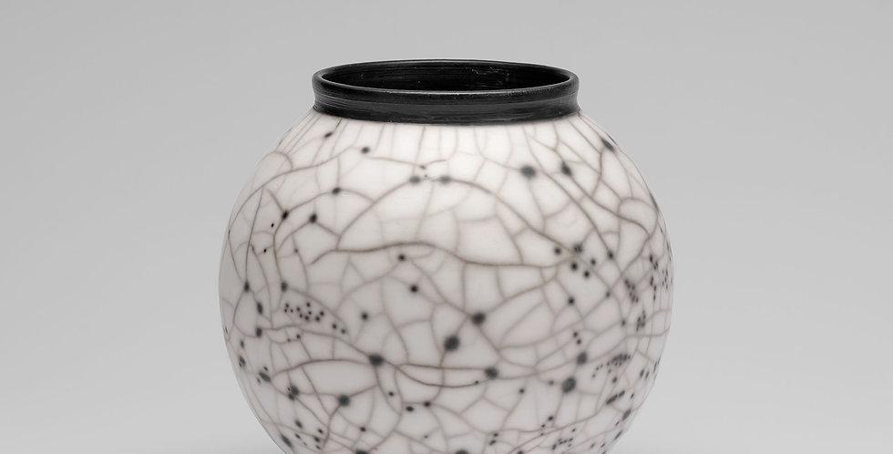 Naked Raku Moon Jar, medium