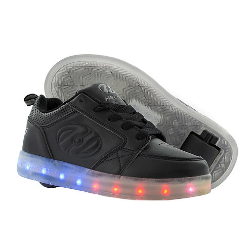 Heelys Premium 1 LO Light Up LED  - Triple Black