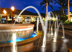 Stage fountain operating.