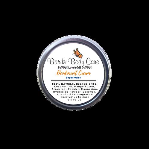 Peppermint Deodorant Cream - 2.5 FL OZ