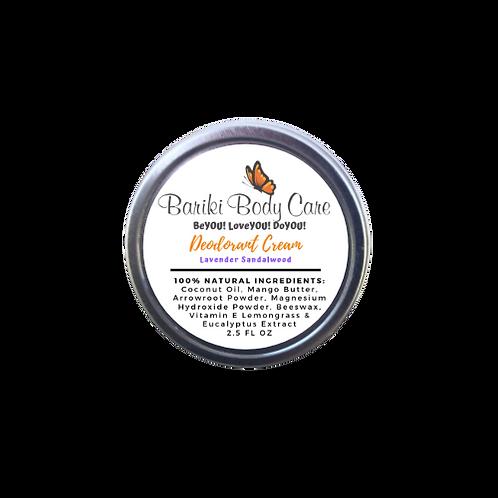 Lavender Sandalwood Deodorant Cream - 2.5 FL OZ