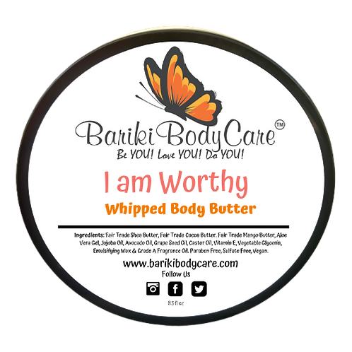 I am Worthy Whipped Body Butter - 8.5 FL OZ