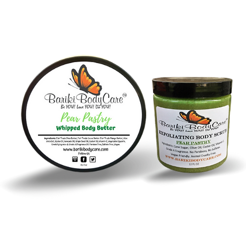 Pear Pastry Whipped Body Butter & Exfoliant Combo
