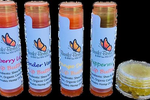 Lip Butters & Free Lip Scrub - .15 FL OZ