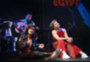 Theatreworld review Kareem Samara, Sabrina Mahfouz and Laura Hanna Photograph by Bill Knight  HISTORY OF WATER Royal Court