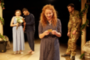 Theatreworld review MUCH ADO ABOUT NOTHING Dorothea Myer-Bennett in Much Ado About Nothing at Tobacco Factory Theatres. Photo: Mark Douet