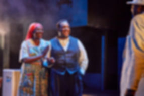 Theatreworld review DEATH OF A SALESMAN Young Vic Sharon D. Clarke and Wendell Pierce. © Brinkhoff Mogenburg