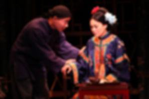 Theatreworld review Will Dao as ATUNG and Rinabeth Apostol as AFONG MOY Photo by Jennifer Reiley MAGIC THEATRE SF THE CHINESE LADY