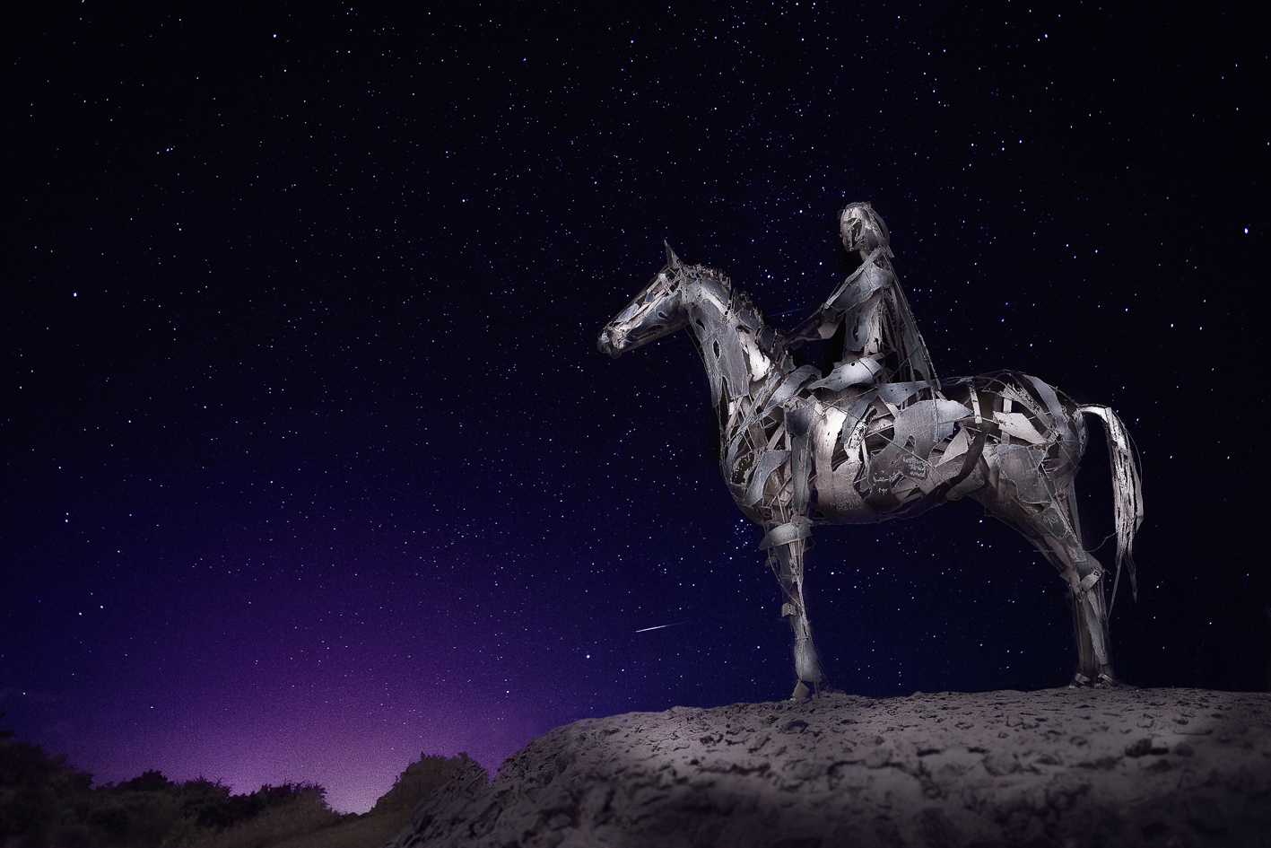Waiting Horseman