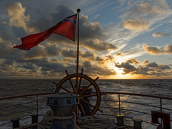 Red Ensign In The Sunset