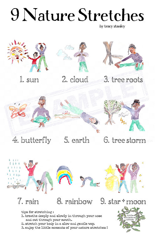 9 Nature Stretches Poster