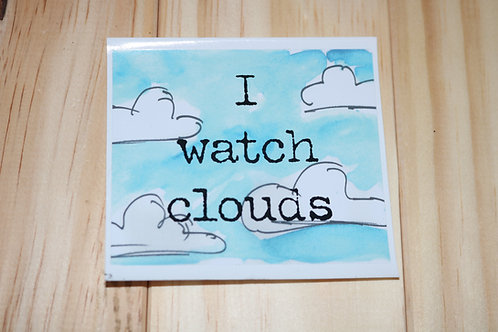 I Watch Clouds Sticker