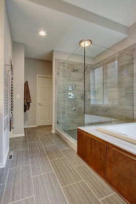 Neutral Colors, Shower, Tub, Bathroom, Modern Bathroom