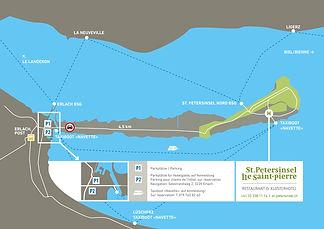 Wegbeschreibung St. Petersinsel Heidenweg Bielersee