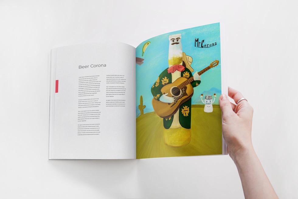 Corona beer magazine