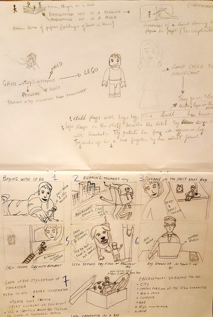 Sketches and storyboard