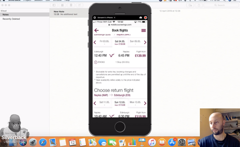 User testing on competive mobile app