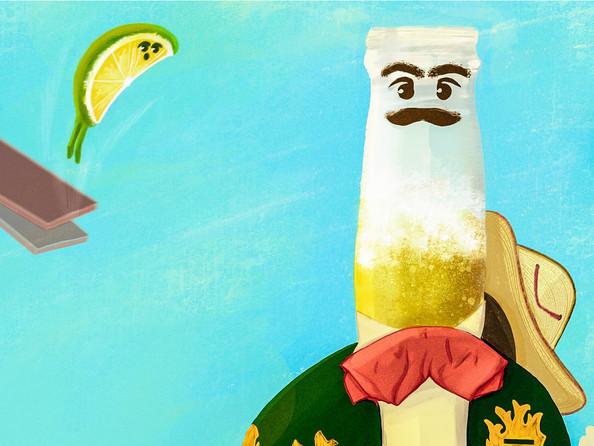 corona beer and his friend lime yei