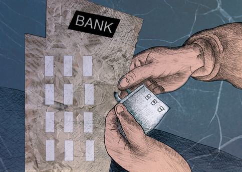bank closure-Inside illustration