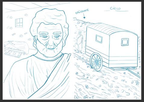 inside illustration sketch