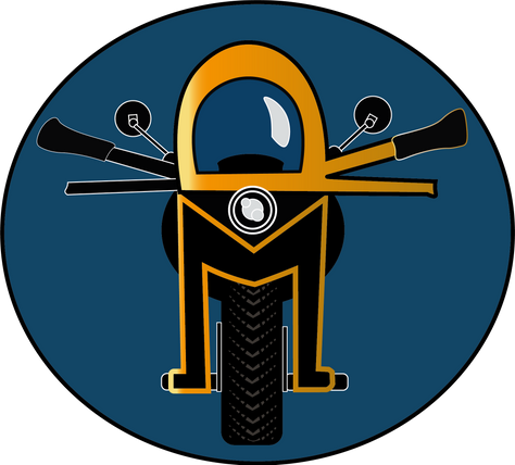 "Logo for ""RM"" garage Earlier version"