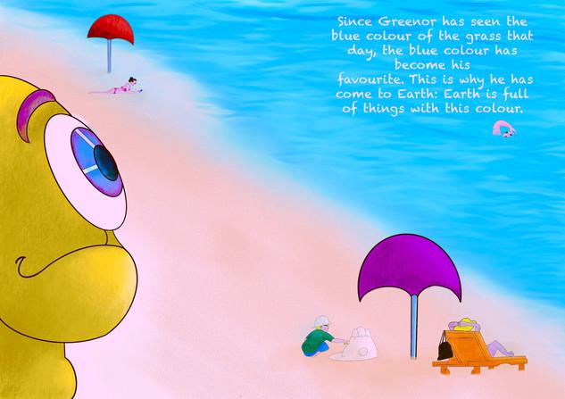 Grenoor arrives on planet Earth