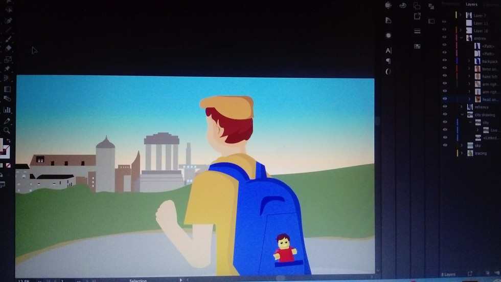 Working on Adobe Illustrator