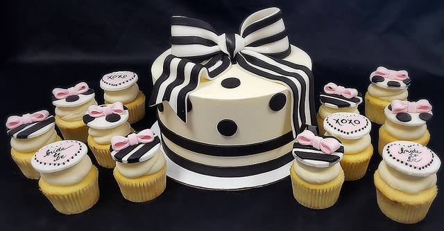 Bridal Shower Stripes and Polka Dots