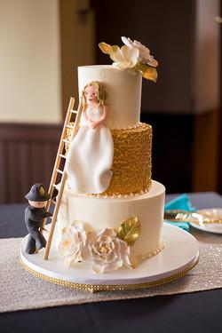 Fireman and Bride