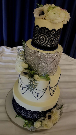 Silver Sequins and Lace
