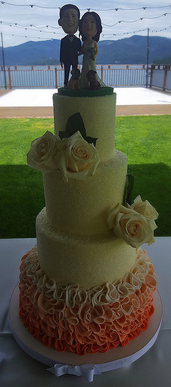 Ombre Ruffles and Roses
