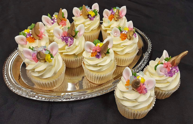 Rainbow Unicorn Cupcakes