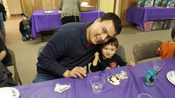 Coloring Cookies with Dad