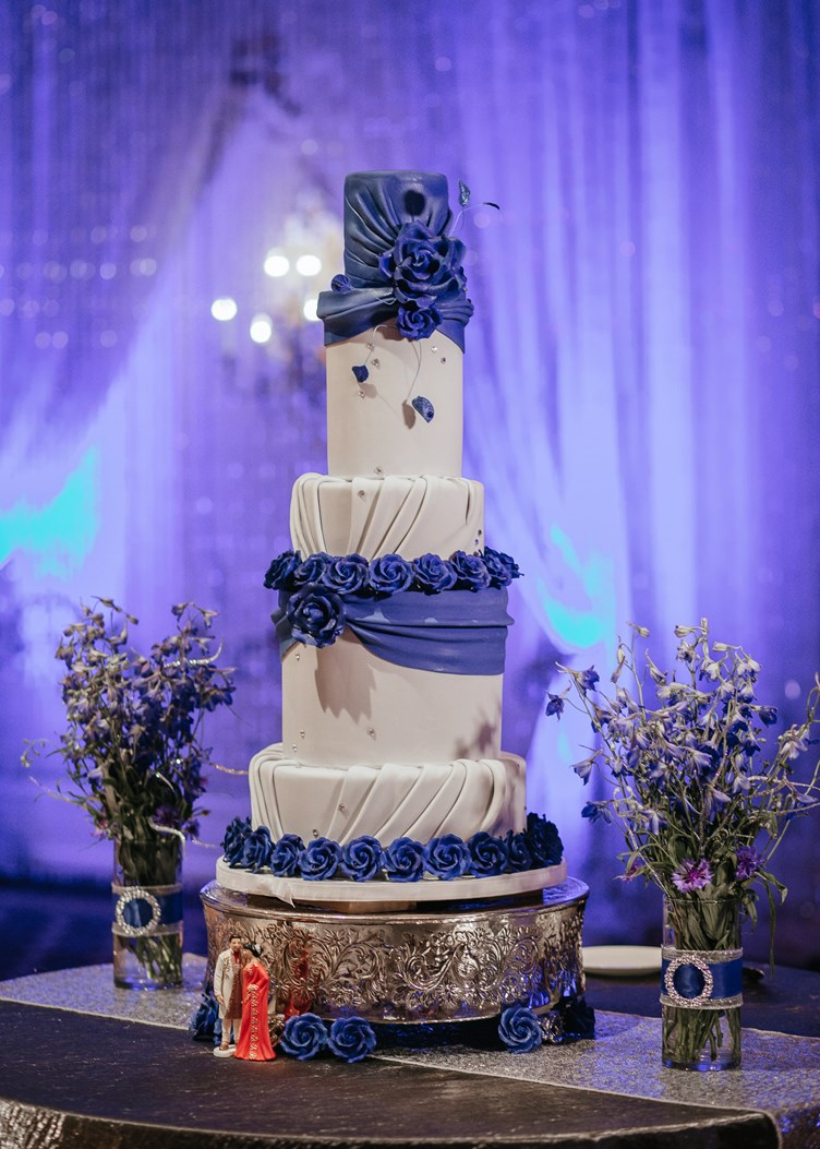Cobalt and Crystal Wedding