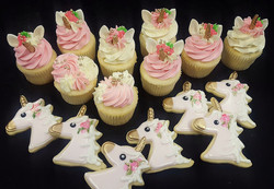 Unicorn Cupcakes and Cookies