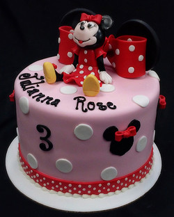 Minnie Mouse Ears and Bow Birthday