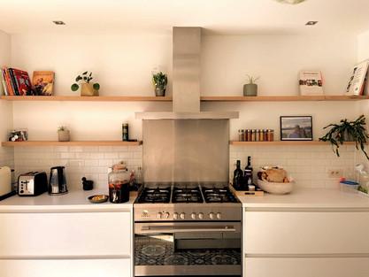 Wandplanken keuken Eik