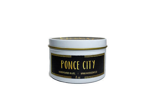 PONCE CITY CANDLE TIN