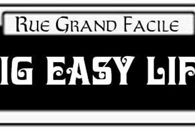 Big Easy Life street sign sticker