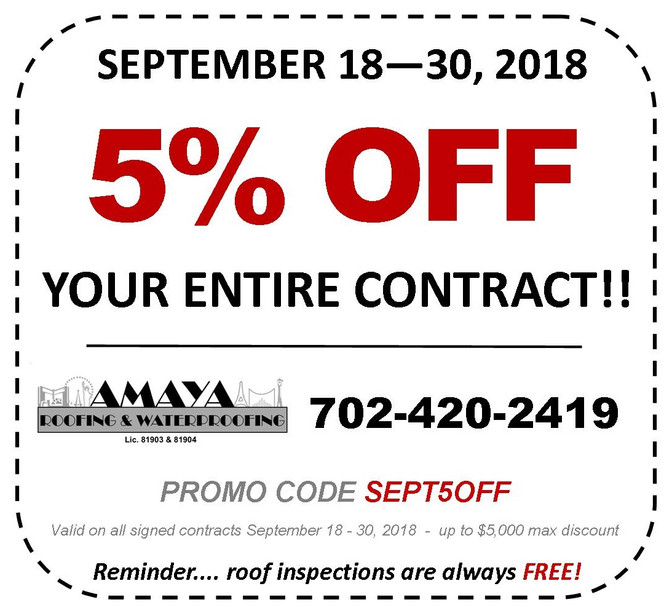 5% OFF ENTIRE CONTRACT!!