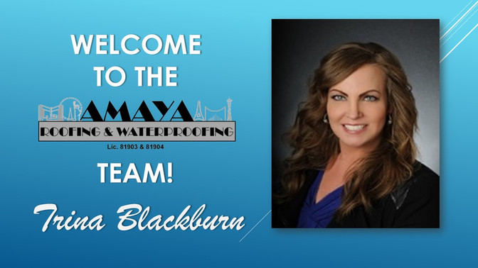AMAYA ROOFING WELCOMES TRINA BLACKBURN