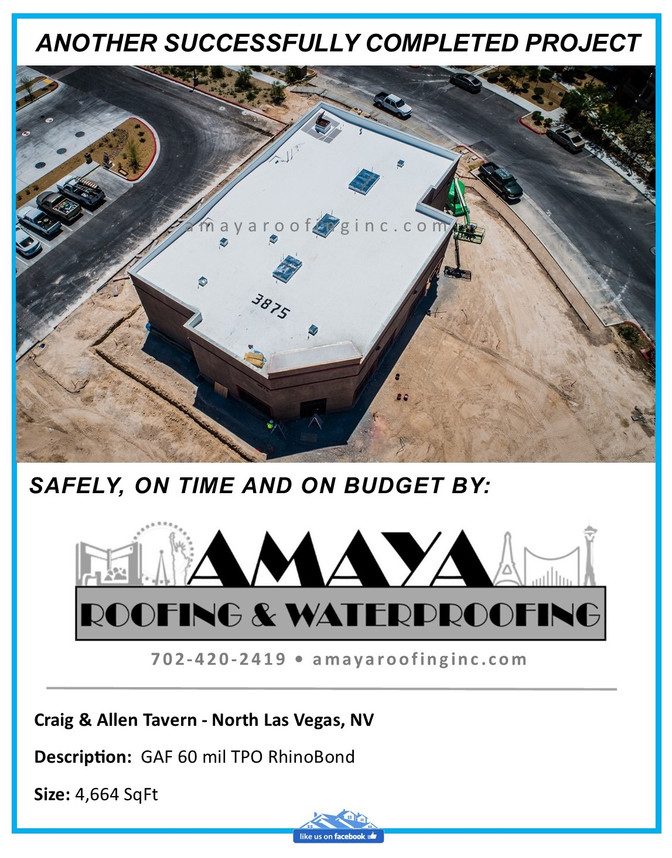 ANOTHER SUCCESSFULLY COMPLETED PROJECT - Craig & Allen Tavern - North Las Vegas, NV