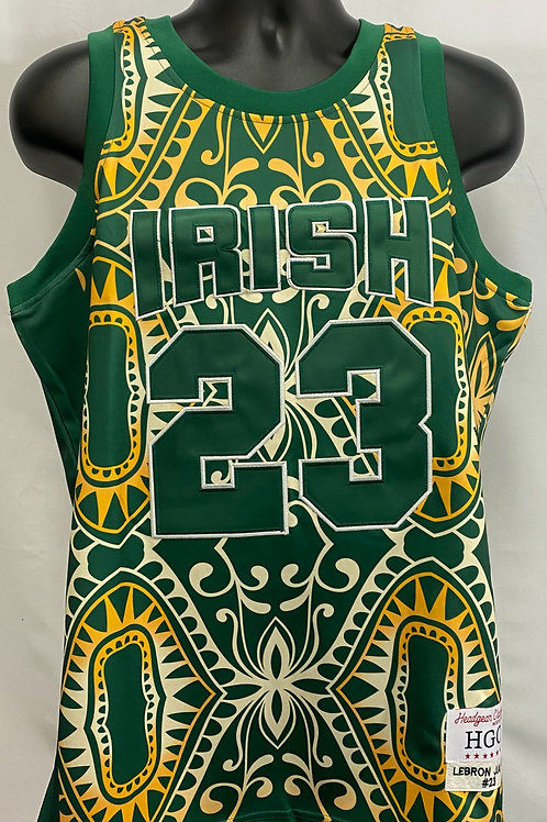 Green Lebron James Irish #12 Headgear Classics