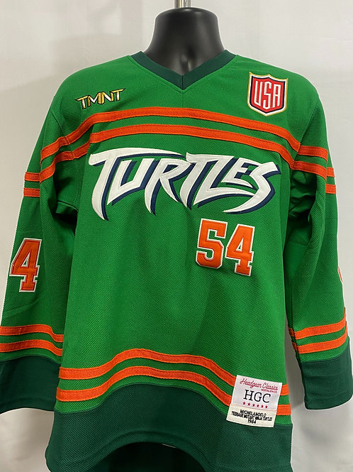 Green Michaelangelo TMNT Jersey #54 Headgear Classics