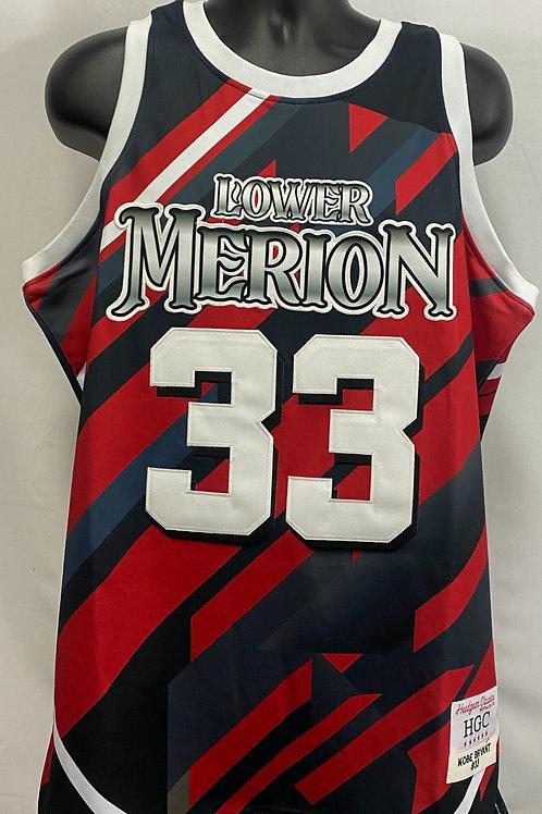 Black and Red Kobe Bryant Lower Merion Jersey #33 Headgear Classics