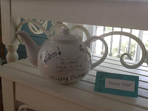 It's Always Tea Time Memory Teapot