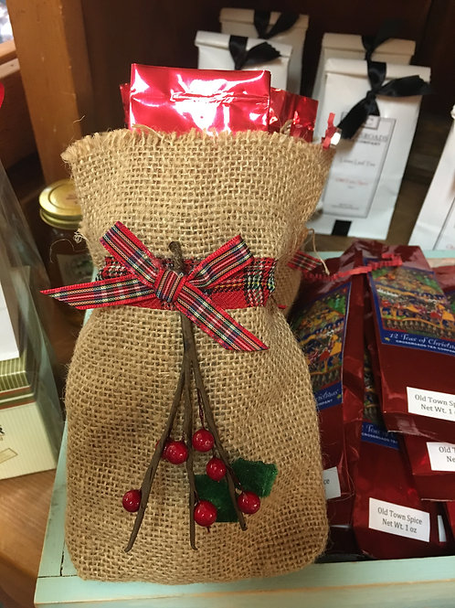 Old Town Spice - Holiday Burlap Bag