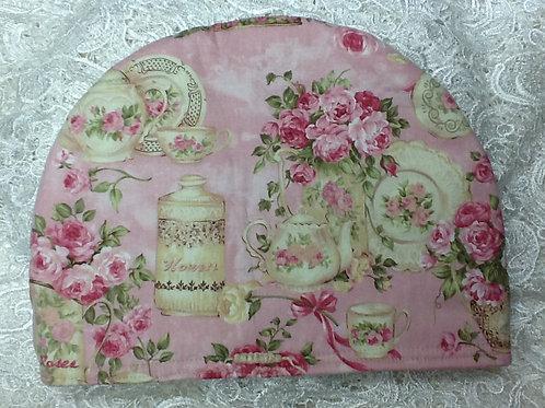Pink Rose & Teapot Tea Cozy