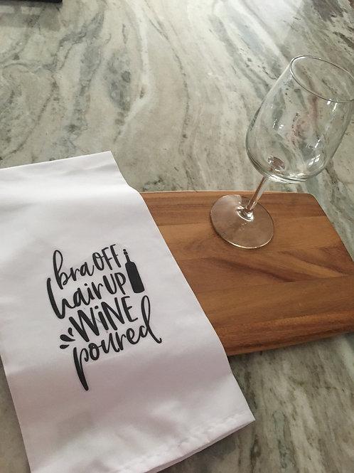 Tea Towel - Wine Poured